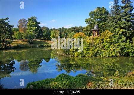 Kiosk in the Forest of Boulogne (Bois de Boulogne), Paris, France. - Stock Photo