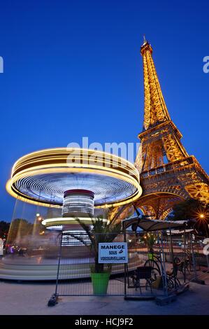 The Eiffel Tower, Paris, France - Stock Photo