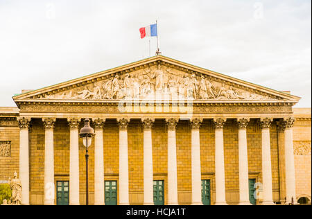 assemblée nationale, national assembly, outside view - Stock Photo