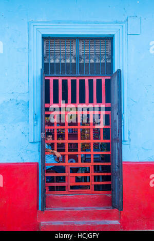 Architectural details in Granada Nicaragua. Granada was founded in 1524 and it's the first European city in mainland - Stock Photo
