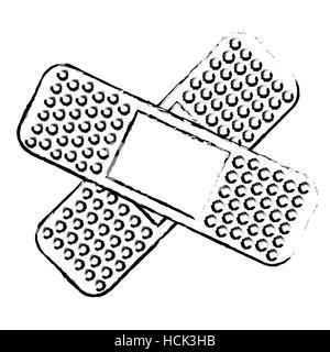 crossed bandages icon image - Stock Photo