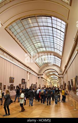 The Grande Galerie, Louvre museum, Paris, France. - Stock Photo