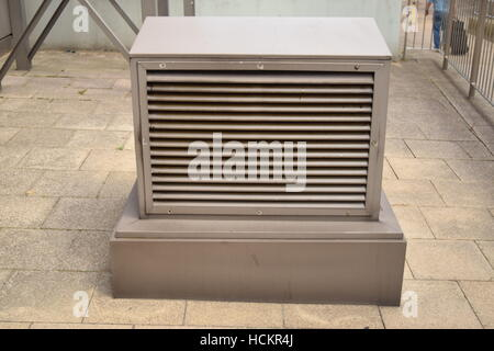 Small square outdoor air vent - Stock Photo
