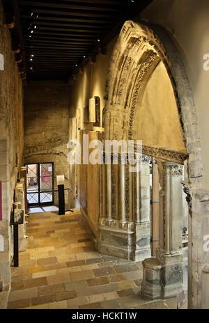 Portal of the 13th century  in the Medieval Museum (Musée national du Moyen Âge), Quartier Latin, Paris, France. - Stock Photo