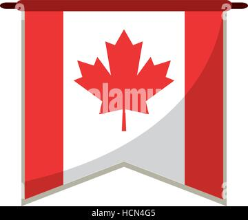 flag pennant canadian red and white - Stock Photo