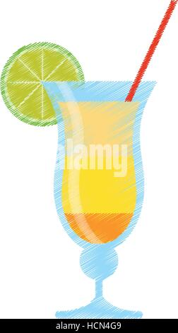 drawing cocktail drink alcohol brazil - Stock Photo