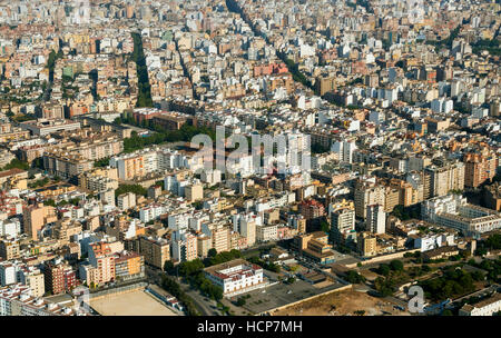 Aerial view, Palma de Mallorca, Mallorca, Balearic Islands, Spain - Stock Photo
