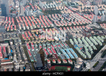 Apartment complexes in Shanghai, China