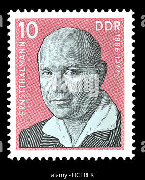 East German (DDR) Postage Stamp (1976) : Ernst Thalmann (1886-1944) German politician. Leader of the Communist Party - Stock Photo