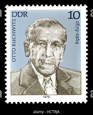 East German (DDR) Postage Stamp (1979) : Otto Buchwitz (1879-1964) German Communist politician - Stock Photo