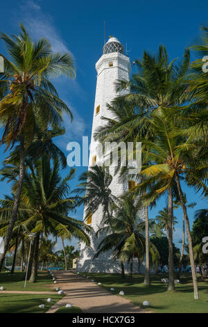 Dondra Head Lighthouse in Matara district the Southern Province. Sri Lanka - Stock Photo