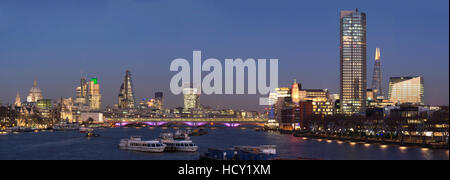 City and Blackfriars panorama with The Shard, London, UK - Stock Photo