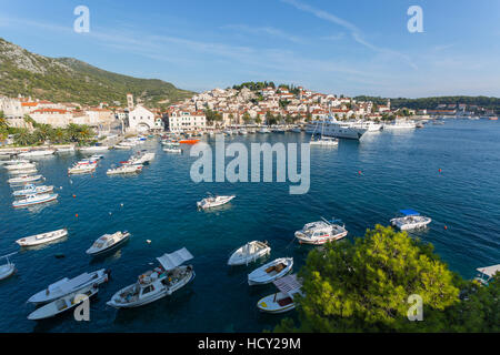 View of Harbour, Hvar Island, Dalmatia, Croatia - Stock Photo