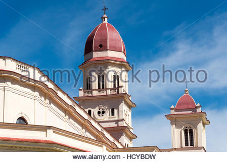 Catholic Minor Basilica of El Cobre dedicated to Our Lady of Charity, Patroness of Cuba. The shrine is not only - Stock Photo