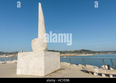 SAN BENEDETTO DEL TRONTO, ITALY - AUGUST 29, 2016: Monument Sciocchetti by the Albanian Genti Tavanxhiu in 2006. - Stock Photo