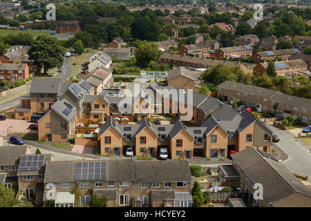New build social housing on the outskirts of Southampton UK - Stock Photo