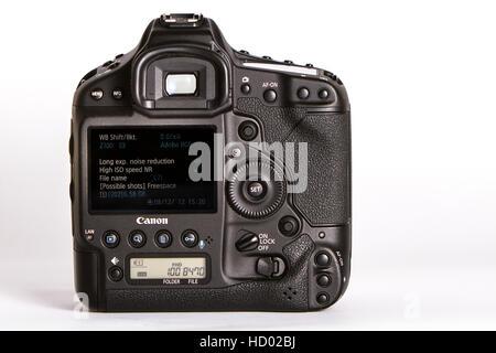 Canon EOS 1D X digital SLR camera - Stock Photo