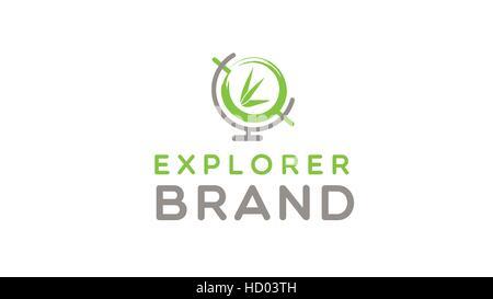 Explorer globe vector logo design template - Stock Photo
