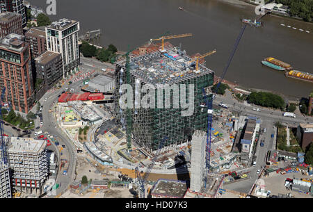 Aerial View Of The New Us Embassy Under Construction On Nine Elms Lane Battersea