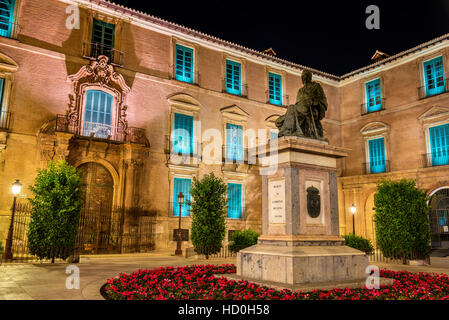 Monument to Cardinal Belluga in Murcia, Spain - Stock Photo