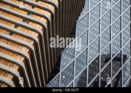 La Defense major business district near Paris, France . Abstract business background with office building skyscrapers - Stock Photo