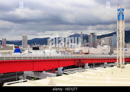 Skyline, Kobe City, Honshu Island, Japan, Asia - Stock Photo