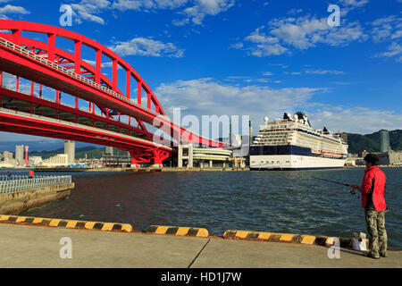 Ohashi Bridge, Kobe City, Honshu Island, Japan, Asia - Stock Photo
