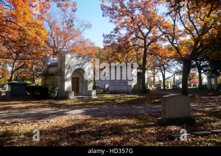 Rosehill Cemetery in Chicago, Illinois. - Stock Photo