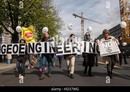Global march against Geoengineering. Berlin, Germany. - Stock Photo