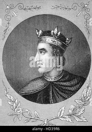 Henry I (1068 – 1135), also known as Henry Beauclerc, was King of England from 1100 to his death. He was the fourth - Stock Photo