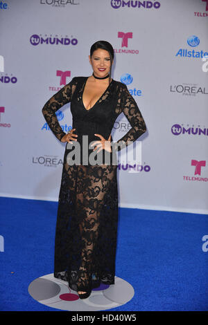 Telemundo's Premios Tu Mundo 'Your World' Awards - Arrivals  Featuring: Litzy Where: Miami, Florida, United States - Stock Photo