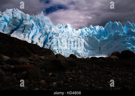 EL CALAFATE, ARG, 06.12.2016: Argentinian Perito Moreno Glacier located in the Los Glaciares National Park in southwest - Stock Photo