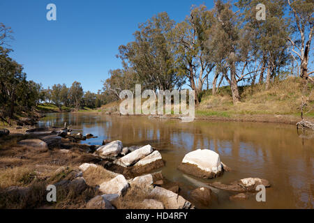MacQuarie River, near Dubbo in the state of New South Wales, Australia. - Stock Photo