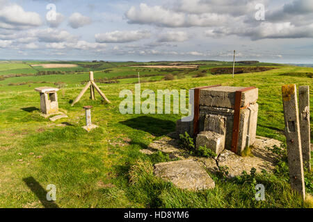 Royal Observer Corps post, Cold War underground bunker to monitor after nuclear attack. Abbotsbury, Dorset, England, - Stock Photo