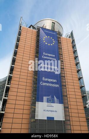 European Commission headquarters, Berlaymont building, Brussels, Belgium - Stock Photo