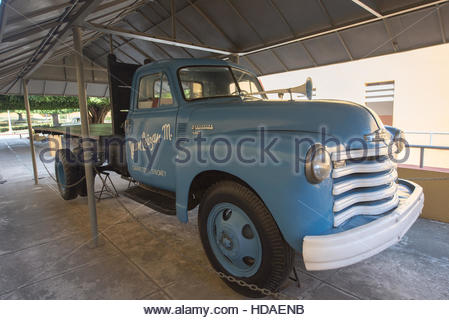 Santiago de Cuba, Cuba: Chevrolet truck used in transporting Fidel Castro when arrested after the attack on the - Stock Photo