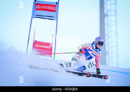 Sestriere, Italy. 10th December, 2016. Audi FIS Women Giant Slalom World Cup in Sestriere on the Kandahar slope, - Stock Photo