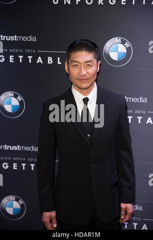 Beverly Hills, California, USA. 10th Dec, 2016. Brian Tee arrives at Unforgettable Gala  December 10, 2016 in Beverly - Stock Photo