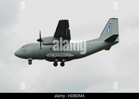 Greek Air Force Alenia C-27J Spartan cargo plane landing - Stock Photo