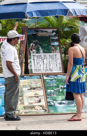 Tour tickets and no time share Puerto Vallarta Mexico - Stock Photo