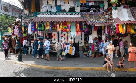 Market shops Puerto Vallarta Mexico - Stock Photo