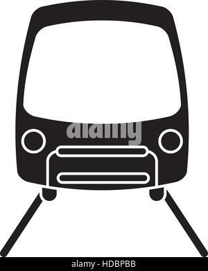 silhouette tram travel public transport urban - Stock Photo