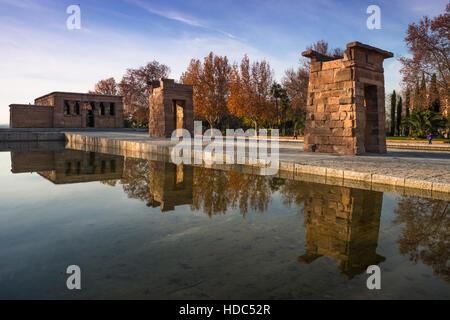Temple of Debod. Parque del Oeste, Madrid Spain. - Stock Photo