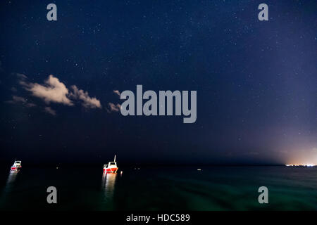stars over the ocean - Stock Photo