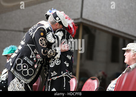 Guildhall Yard, London, UK - 25 Sept 2016 - The annual Pearly Kings and Queens & Costermongers harvest festival - Stock Photo