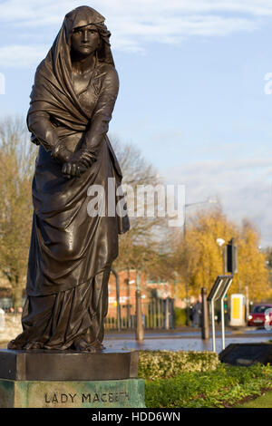 Lady Macbeth statue, part of the Shakespeare manorial by Lord Ronald Gower in Stratford upon Avon - Stock Photo