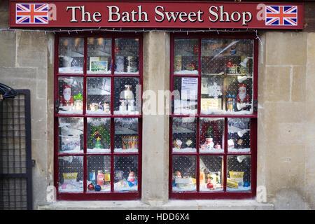 The Bath Sweet Shop, Bath England - Stock Photo