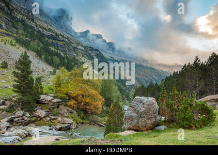 Ordesa y Monte Perdido National Park, Huesca, Aragon, Spain, Pyrenees mountains. - Stock Photo