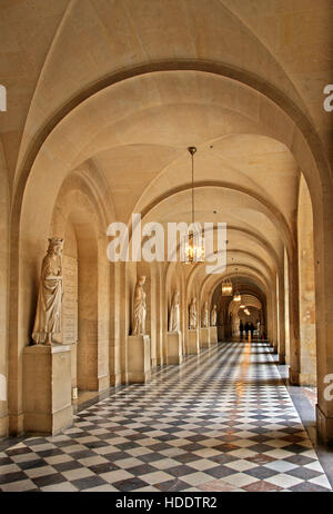 Arcade in the Palace of Versailles, France. - Stock Photo