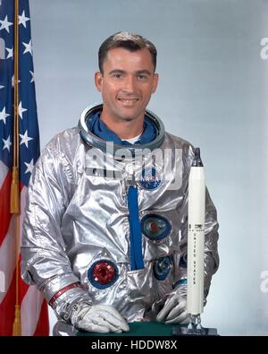 Official NASA portrait of Gemini-3 mission astronaut John Young 1964. - Stock Photo